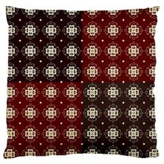 Decorative Pattern With Flowers Digital Computer Graphic Large Cushion Case (one Side)