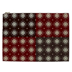 Decorative Pattern With Flowers Digital Computer Graphic Cosmetic Bag (xxl)