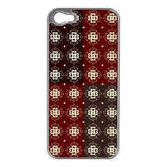 Decorative Pattern With Flowers Digital Computer Graphic Apple Iphone 5 Case (silver)