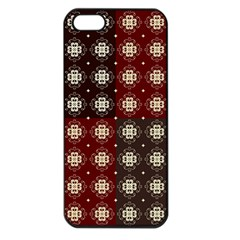 Decorative Pattern With Flowers Digital Computer Graphic Apple iPhone 5 Seamless Case (Black)
