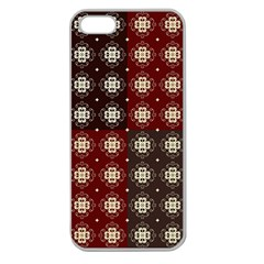 Decorative Pattern With Flowers Digital Computer Graphic Apple Seamless iPhone 5 Case (Clear)