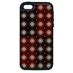 Decorative Pattern With Flowers Digital Computer Graphic Apple iPhone 5 Hardshell Case (PC+Silicone)