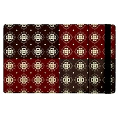 Decorative Pattern With Flowers Digital Computer Graphic Apple iPad 3/4 Flip Case