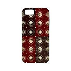 Decorative Pattern With Flowers Digital Computer Graphic Apple Iphone 5 Classic Hardshell Case (pc+silicone)