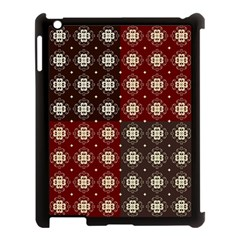 Decorative Pattern With Flowers Digital Computer Graphic Apple Ipad 3/4 Case (black)
