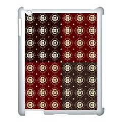 Decorative Pattern With Flowers Digital Computer Graphic Apple iPad 3/4 Case (White)
