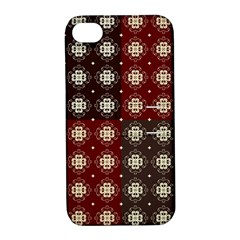 Decorative Pattern With Flowers Digital Computer Graphic Apple Iphone 4/4s Hardshell Case With Stand