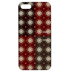 Decorative Pattern With Flowers Digital Computer Graphic Apple iPhone 5 Hardshell Case with Stand
