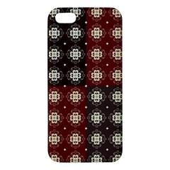 Decorative Pattern With Flowers Digital Computer Graphic Apple iPhone 5 Premium Hardshell Case