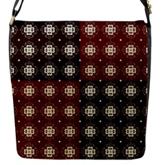 Decorative Pattern With Flowers Digital Computer Graphic Flap Messenger Bag (S)