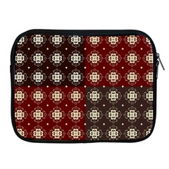 Decorative Pattern With Flowers Digital Computer Graphic Apple Ipad 2/3/4 Zipper Cases