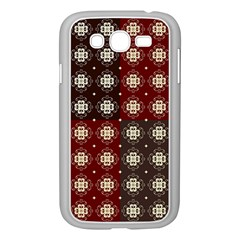 Decorative Pattern With Flowers Digital Computer Graphic Samsung Galaxy Grand DUOS I9082 Case (White)