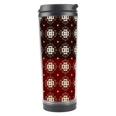 Decorative Pattern With Flowers Digital Computer Graphic Travel Tumbler