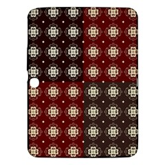 Decorative Pattern With Flowers Digital Computer Graphic Samsung Galaxy Tab 3 (10.1 ) P5200 Hardshell Case
