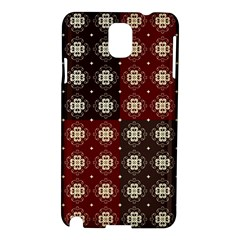 Decorative Pattern With Flowers Digital Computer Graphic Samsung Galaxy Note 3 N9005 Hardshell Case