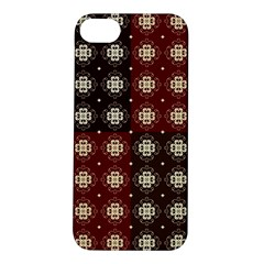 Decorative Pattern With Flowers Digital Computer Graphic Apple iPhone 5S/ SE Hardshell Case