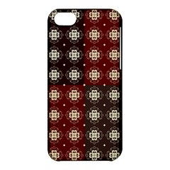 Decorative Pattern With Flowers Digital Computer Graphic Apple Iphone 5c Hardshell Case