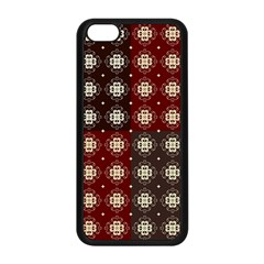 Decorative Pattern With Flowers Digital Computer Graphic Apple iPhone 5C Seamless Case (Black)