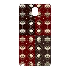 Decorative Pattern With Flowers Digital Computer Graphic Samsung Galaxy Note 3 N9005 Hardshell Back Case