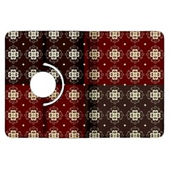 Decorative Pattern With Flowers Digital Computer Graphic Kindle Fire HDX Flip 360 Case