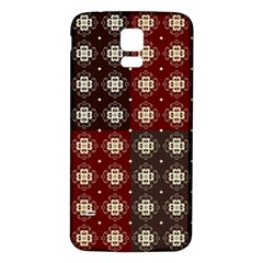 Decorative Pattern With Flowers Digital Computer Graphic Samsung Galaxy S5 Back Case (White)