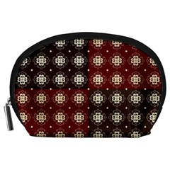 Decorative Pattern With Flowers Digital Computer Graphic Accessory Pouches (Large)