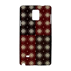 Decorative Pattern With Flowers Digital Computer Graphic Samsung Galaxy Note 4 Hardshell Case