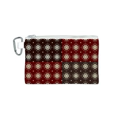 Decorative Pattern With Flowers Digital Computer Graphic Canvas Cosmetic Bag (S)