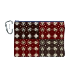 Decorative Pattern With Flowers Digital Computer Graphic Canvas Cosmetic Bag (M)