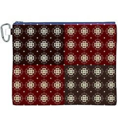 Decorative Pattern With Flowers Digital Computer Graphic Canvas Cosmetic Bag (xxxl)