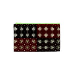 Decorative Pattern With Flowers Digital Computer Graphic Cosmetic Bag (xs)