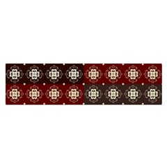 Decorative Pattern With Flowers Digital Computer Graphic Satin Scarf (oblong)