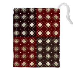 Decorative Pattern With Flowers Digital Computer Graphic Drawstring Pouches (XXL)