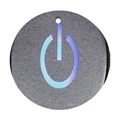 Close Up Of A Power Button Ornament (round)