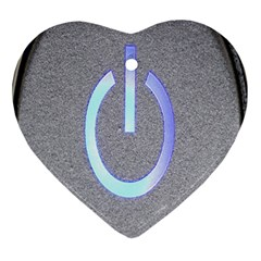 Close Up Of A Power Button Ornament (Heart)