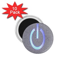Close Up Of A Power Button 1.75  Magnets (10 pack)