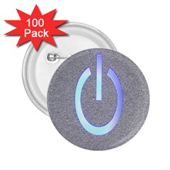 Close Up Of A Power Button 2.25  Buttons (100 pack)