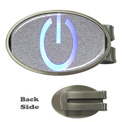 Close Up Of A Power Button Money Clips (oval)