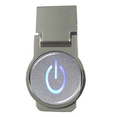 Close Up Of A Power Button Money Clips (Round)