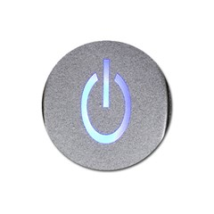 Close Up Of A Power Button Magnet 3  (Round)