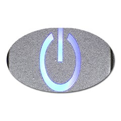 Close Up Of A Power Button Oval Magnet