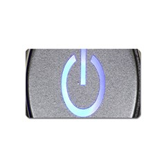 Close Up Of A Power Button Magnet (name Card)