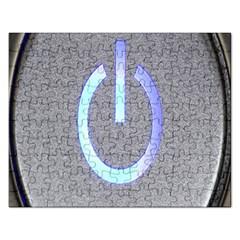 Close Up Of A Power Button Rectangular Jigsaw Puzzl