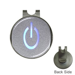 Close Up Of A Power Button Hat Clips with Golf Markers