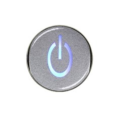 Close Up Of A Power Button Hat Clip Ball Marker (4 pack)