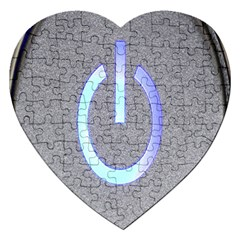 Close Up Of A Power Button Jigsaw Puzzle (heart)