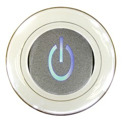 Close Up Of A Power Button Porcelain Plates