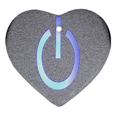 Close Up Of A Power Button Heart Ornament (two Sides)