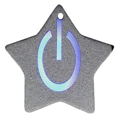 Close Up Of A Power Button Star Ornament (Two Sides)