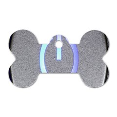 Close Up Of A Power Button Dog Tag Bone (Two Sides)